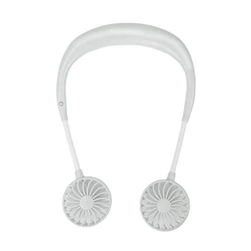 Kefaith Hand Free Personal Fan - Kopfhörer Design Tragbarer Halsbandlüfter Necklance Lüfter Kühlerlüfter mit Doppelwindkopf für Reisen im Freien Büroraum (Farbe : T4) Hands Free-kopfhörer