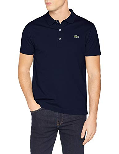 Lacoste Herren Yh4801 Poloshirt, Blau (Marine 166), Large (Herstellergröße: 5)