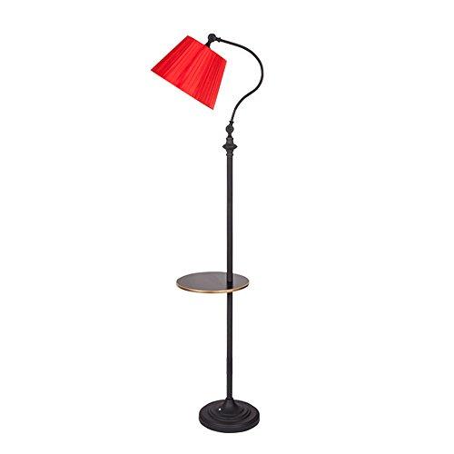 Lampadaire réglable en fer Art,Rouge et noir, Lampadaire de chambre à coucher de salon, taille de 160cm XIANGY