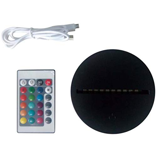 Grundlagen der LED-Lampe für Illusion 3D-Nachtlicht 7 Farben berühren Basis-Switch Teile der Fernbedienung für die 3D von Tischlampen Tabelle (schwarz) -