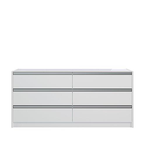 Steens Skyline Kommode , 6 Schubladen, (B/H/T) 143 x 66 x 49 cm, MDF, Weiß