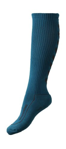Hummel, Calze Unisex Advanced Long Indoor, Blu (oriental blue/nine iron), 32 - 35