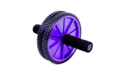 FA Sports AB Roller Super Wheel Bauchtrainer 2012, Schwarz, Lila, 20x20x25, 372