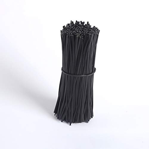 Rekkle 1000PCS / Set Schwarz PVC beschichtet Haushalt Außentaschen Verpackungs Draht Metallkabel Datenkabel Organizer-Taschen Bindung Verpackung Draht Twist Krawatten