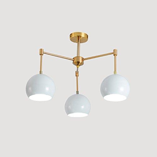MEGSYL Personalisierte Eisen Kronleuchter, Nordic minimalistischen modernen Stil Deckenleuchte, Wohnzimmer Esszimmer Lampen Leuchte, 3 Lichtquelle kreative Atmosphäre Ball Kronleuchter, hellblau - Medallion-deckenventilator