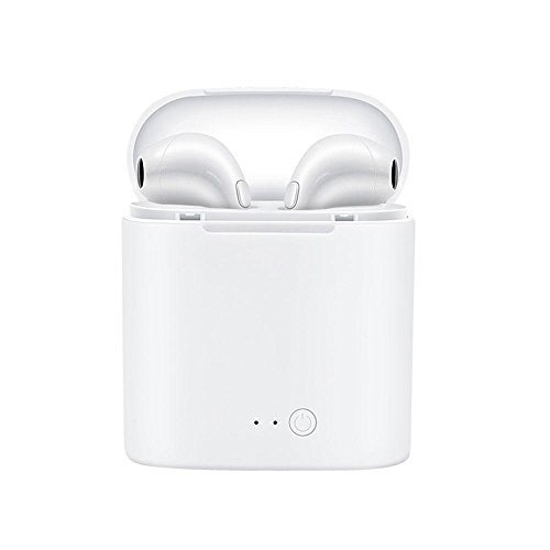 Auricolari bluetooth macchina teepao cuffie bluetooth palestra,mini auricolari bluetooth wireless senza fili, auricolari stereo per iphone 8 7 plus / 6s / 6s plus, ipad, smartphone samsung(bianco)