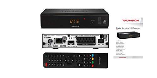 THOMSON THT712 Terminal Numérique Terrestre HD (HDTV, DVB-T2, USB, Ethernet, HDMI, Péritel) noir