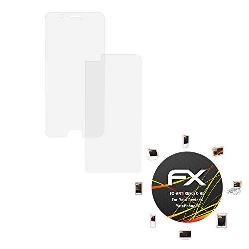 atFolix Schutzfolie kompatibel mit Yota Devices YotaPhone 3 Displayschutzfolie, HD-Entspiegelung FX Folie (3er Set)