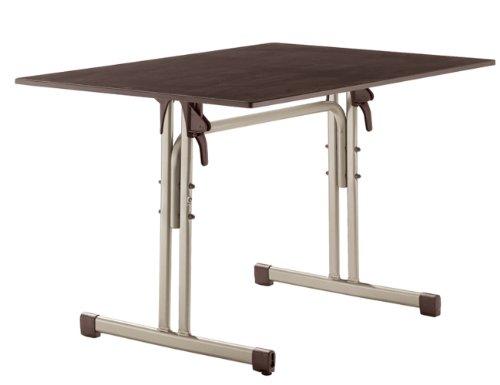 Sieger 1360-60 Gastro-Tisch mit Puroplan-Platte 120 x 80 cm, Stahlrohrgestell champagner,...