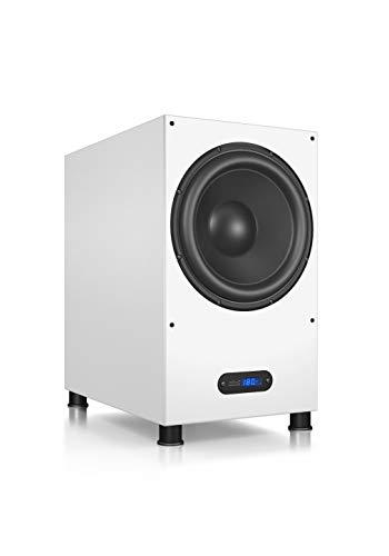 Nubert nuLine AW-1100 Subwoofer | Lautsprecher für Bass und Effekte | Surround und Action auf hohem Niveau | Aktivsubwoofer-Technik | LFE-Box mit 380 Watt | Grenzfrequenz 19 Hz | Subwoofer Weiß