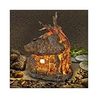 Garden Glows Fairy Dwelling - THE HOME OF BEATRICE MEADOW - Fairy House - for indoor outdoor use - with 3 solar powered LEDs