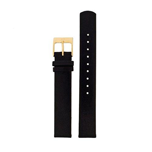 Skagen Uhrband Wechselarmband LB-SKW2286 Ersatzband SKW2286 Uhrenarmband Leder 14 mm Schwarz