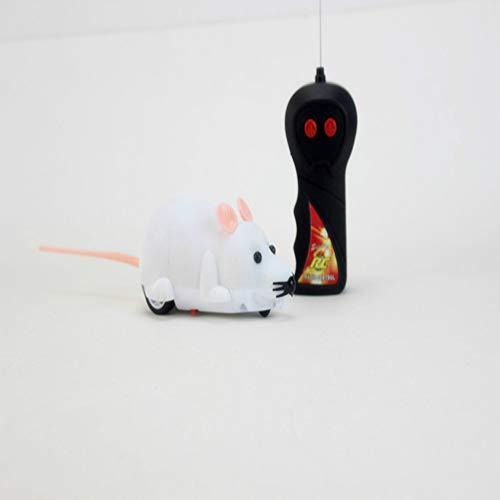 WSWWY Lustige katzenspielzeug Hund drahtlose Fernbedienung Maus Simulation elektrische ganze Haustier Spielzeug Beflockung hundespielzeug große 6 weißes Fleisch 15x9x6 cm -