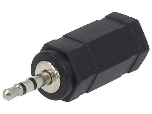 Premium Cord - Adaptador estéreo (Clavija de 2,5 mm a 3,5 mm, Conector Jack MF)