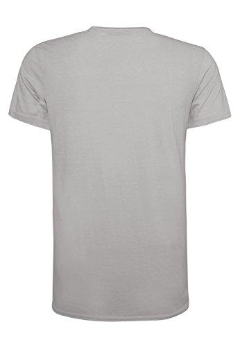 SUBLEVEL Herren Print-Shirt - Live your life | Leichtes Basic T-Shirt mit Foto-Aufdruck Grey