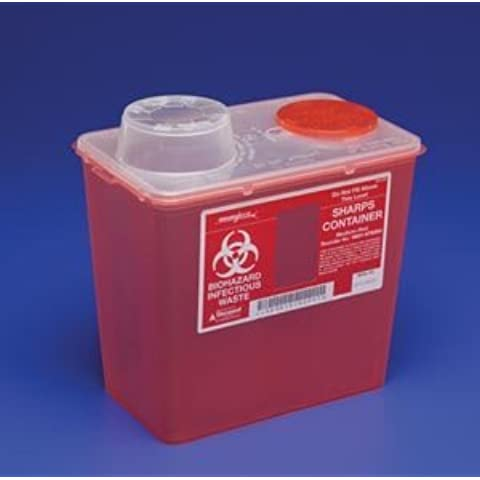 SharpSafety Monoject Sharps Containers, Monoject Sharp Cntnr 8Qt Red, (1