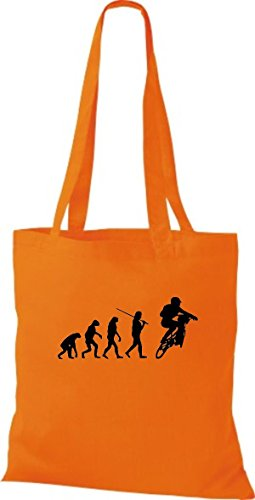Borsa Di Stoffa Tinta Unita Jute Evolution Moto Bike Biking Stunt Freebike Biker Vari Colori Arancione