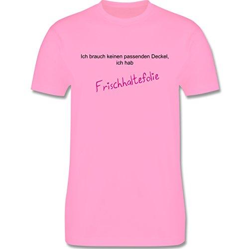 Sprüche - Ich brauche keinen Deckel - ich habe Frischhaltefolie - Herren Premium T-Shirt Rosa