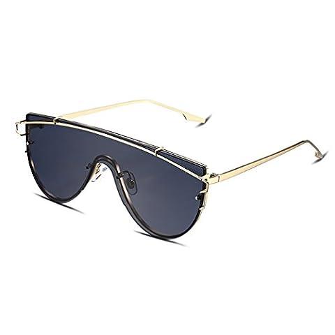 Hmilydyk Aviator Lunettes de soleil polarisées pour homme avec étui de lunettes de soleil Cadre en métal–UV 400Eyewear Lunettes, Gold Frame with Grey Lens