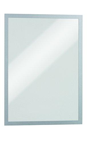 Durable-Duraframe-Magnetic-Cadre-dAffichage-Magntique-pour-Document-A4-Argent-Mtallis-Sachet-de-5