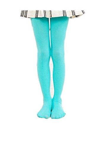 Swallowuk Kinder Samt 80d Strumpfhosen, Mädchen tanzen Socken weiß (2XL(150-170), Himmelblau) -