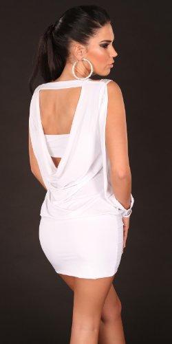 Ouvert, sexy de soirée avec manches et dos nu koucla by in-stylefashion sKU 0000K4044 Blanc - blanc