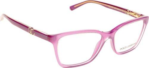 Dolce & Gabbana Montures de lunettes 3153P Iconic Logo Pour Femme Black, 52mm 2772: Pearl Violet