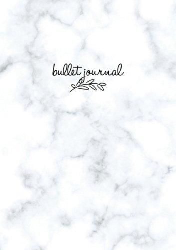 Buchcover Bullet Journal: Marble Notizbuch A5 Dotted: Bullet Journal Deutsch, Punktraster Notizbuch A5, Agenda Buch, Design Buch, Planer, Arbeitsbuch, Skizzenbuch, Mathe Buch, ... 120 Seiten (Punktpapier)