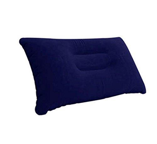 tiaobug-flocking-fabric-travel-pillow-inflatable-soft-cushion-camping-pillow-pad-navy-blue