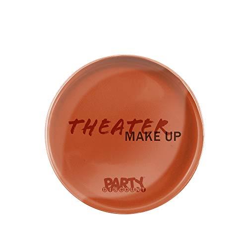 PARTY DISCOUNT Theater-Schminke / Creme-Make-Up, Orange 25g (Make-up Hexe Kleinkind)