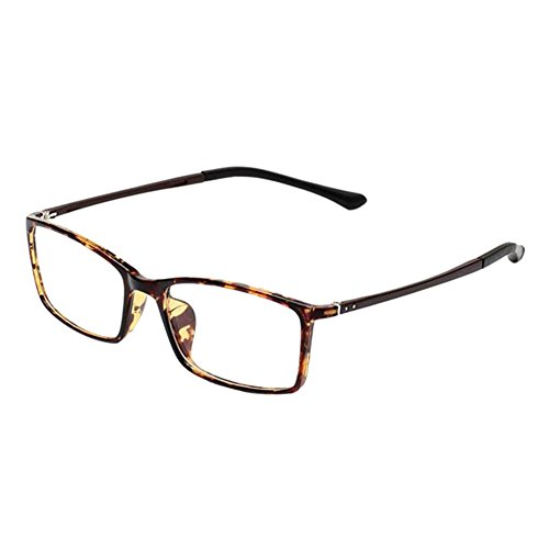 Deylaying Retro TR90 Kurzsichtigkeit Brille Schlank Rahmen Computer Goggles Kurzsichtig Linsen -0.50~-6.00 für Studenten Lehrer Fahrer (Stärke -5.5, Tortie) (Diese sind nicht Lesen Brille)