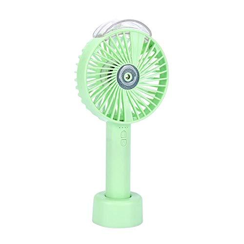 WOAILI USB-Lüfter, Mini-Desktop-Lüfter, Neuer Sommer-Luftbefeuchter-Spray-Lüfter, leiser Kleiner Lüfter für Büro, Zuhause, Camping, Auto, grün -