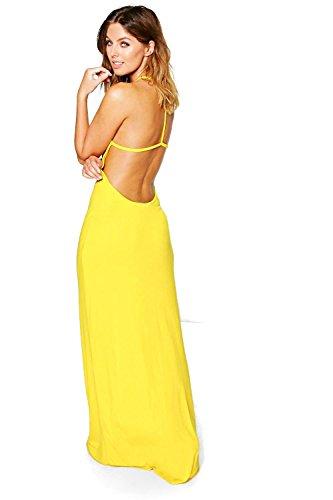 Gelb Damen Amy Maxikleid Mit Schmalen Rückenträgern Gelb