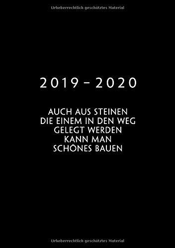 2019 - 2020: Wochenplaner ab KW18 | Mai 2019 bis Dez 2020 Kalender | 1 Woche auf 1 Seite Planer | A5 Format Terminkalender | Goethe Zitat | Motivation