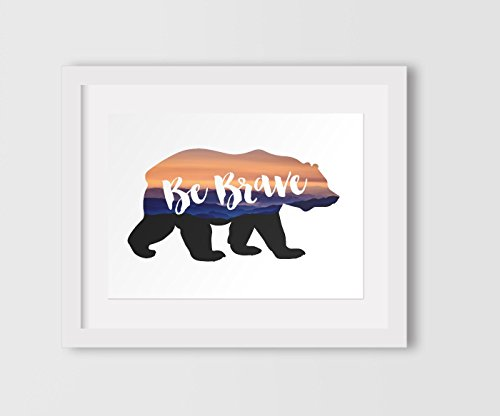 be-brave-print-woodland-bear-nursery-art-8-x-10-inches-unframed