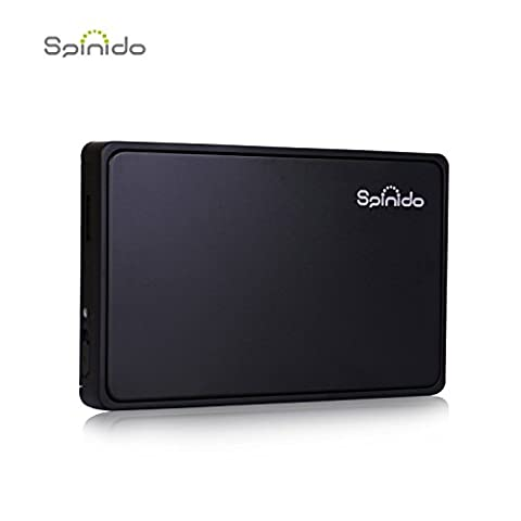 Spinido Hard Disk Enclosure Support UASP SATA III USB 3.0/2.0 Aluminum External Tool-free Box & Mobile Device Optimized For 2.5 Inch SSD and