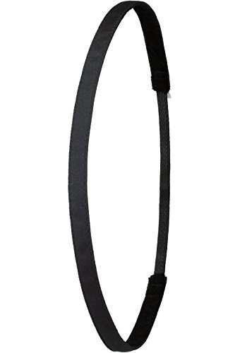 Ivybands Anti-Rutsch Haarband Super Thin, Schwarz, One size, IVY003 (Super-soft-fußball)