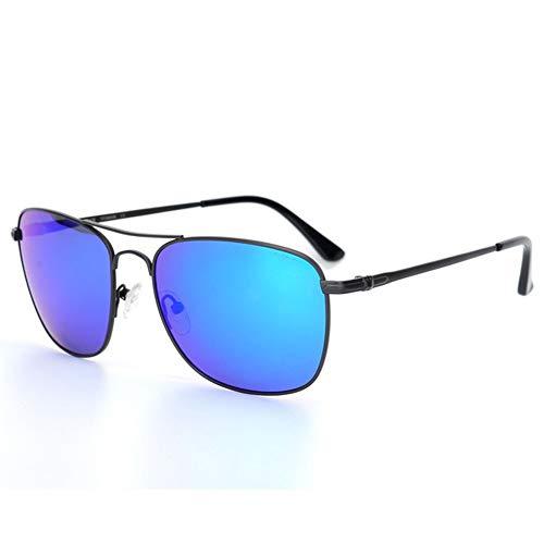 FANGLING-SUNGLASSES Gezeiten Sonnenbrillen Sonnenbrille Blau Grün Grau Objektiv UV400 Herren Sonnenbrille Komfortables Fahren Titan Brille UV-Schutz Persönlichkeit (Farbe : Blue)