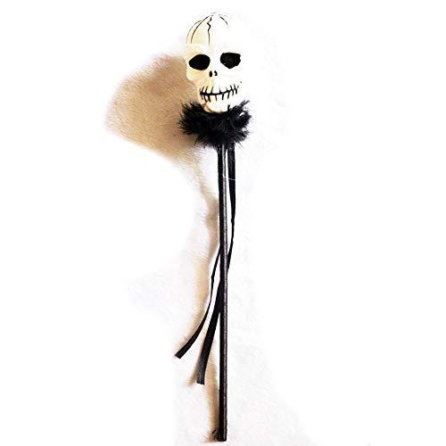 Ndier Totenkopf mit LED-Licht für Dekoration oder Spiel-Werkzeuge 1 Stück für Halloween (Halloween-party Hoch Die Wie)
