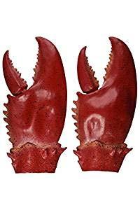 JIUZHI 1 Paar Hummer Krabbe Krallen Hand Handschuhe, Neuheit Tierspielzeug, Spielzeug Halloween Party Cosplay Gauntlet Cartoon Krabben Hummer Kostüm Einzigartige, Rot (Paare Kostüm Einzigartig)