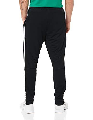 adidas core 18 h felpa con cappuccio uomo nero black/white l