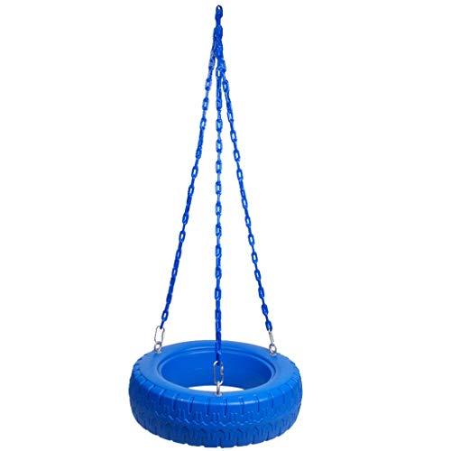 Kreative Reifen Modellierung Kunststoff Schaukeln Baby Puzzle Garten Outdoor Indoor Spielzeug Kinder Runde Schaukeln 2-3 Personen Freizeit Schaukeln (Color : Blue, Größe : 23.62 * 23.62 * 7.08inchs) (Swing 2 Personen Outdoor)