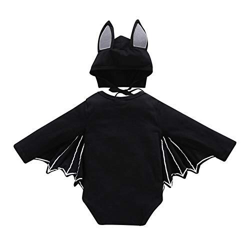 Unique Life  Toddler Newborn Baby Boys Girls Halloween Cosplay Costume Bat Sleeve Romper Hat Outfits Set,18-24 (Kleinkind Bat Girl Kostüm)
