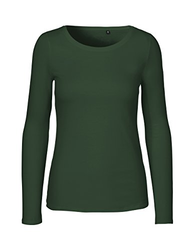 -Green Cat- Damen Langarmshirt, 100% Bio-Baumwolle. Fairtrade, Oeko-Tex und Ecolabel zertifiziert, Textilfarbe: grün, Gr.: XS (Damen-bio-baumwoll-jersey)
