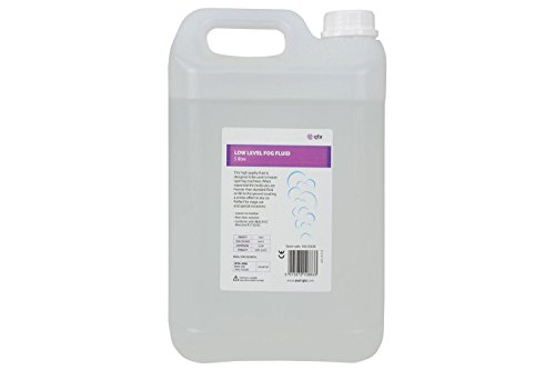 QTX Low Level Dry Ice Effekt Nebel Smoke Machine Fluid 5 Liter Flasche (Maschine Eis Nebel)