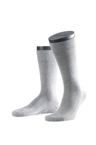 FALKE Herren Socken Füßlinge 14616 3000 Blickdicht, Grau (Hellgrau), 39-42  (Herstellergröße: 5.5-8)