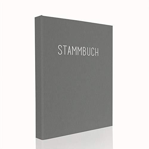 Hochzeitideal Stammbuch der Familie DIN A5 'Klassik' Leinen (grau)