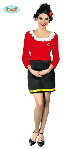 Costume Olivia fidanzata Braccio di Ferro Popeye taglia unica