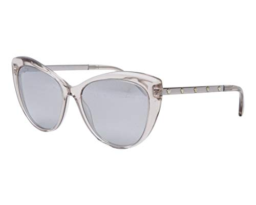 Versace Damen 0VE4348 52706V 57 Sonnenbrille, Braun (Transparent Rose Brown/Lightgreymirrorgradsilver)