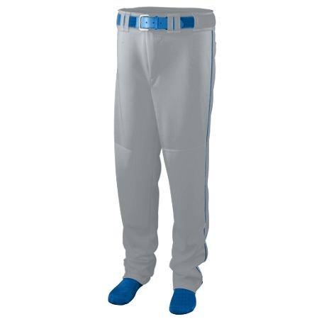 Augusta Sportswear BOYS' SERIES BASEBALL PANTS WITH PIPING L Silver Grey/Royal